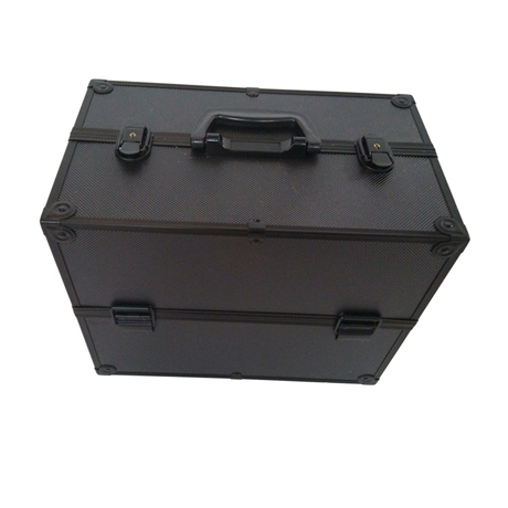 Popular double open aluminum abs makeup case