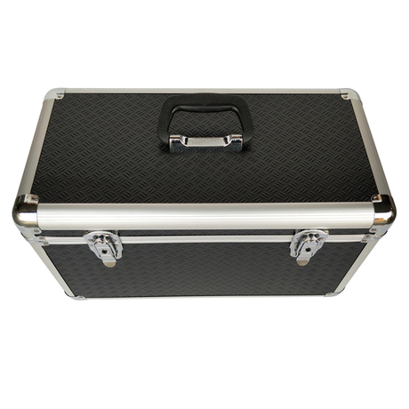 Aluminum case with large capacity for storage